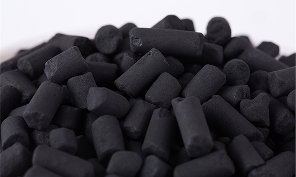Impregnated activated carbon pellet