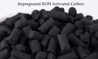 Impregnated pellet activated carbon